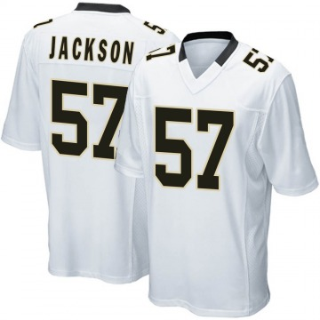 Youth Nike New Orleans Saints Rickey Jackson White Jersey - Game