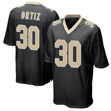 Youth Nike New Orleans Saints Ricky Ortiz Black Team Color Jersey - Game