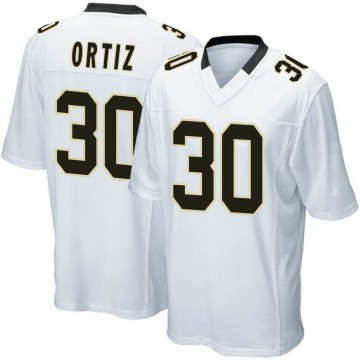 Youth Nike New Orleans Saints Ricky Ortiz White Jersey - Game