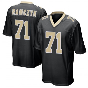 Youth Nike New Orleans Saints Ryan Ramczyk Black Team Color Jersey - Game