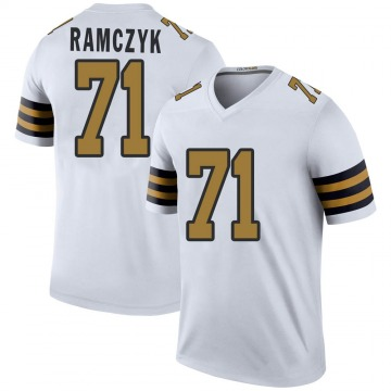 Youth Nike New Orleans Saints Ryan Ramczyk White Color Rush Jersey - Legend