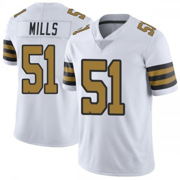 Youth Nike New Orleans Saints Sam Mills White Color Rush Jersey - Limited