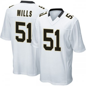 Youth Nike New Orleans Saints Sam Mills White Jersey - Game