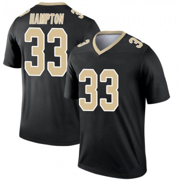Youth Nike New Orleans Saints Saquan Hampton Black Jersey - Legend