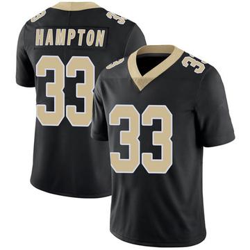 Youth Nike New Orleans Saints Saquan Hampton Black Team Color 100th Vapor Untouchable Jersey - Limited