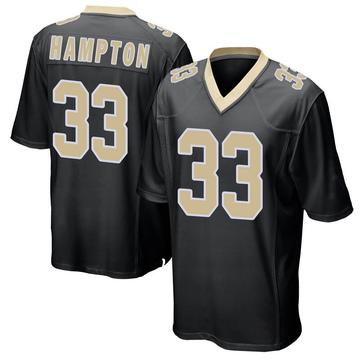 Youth Nike New Orleans Saints Saquan Hampton Black Team Color Jersey - Game