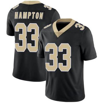 Youth Nike New Orleans Saints Saquan Hampton Black Team Color Vapor Untouchable Jersey - Limited