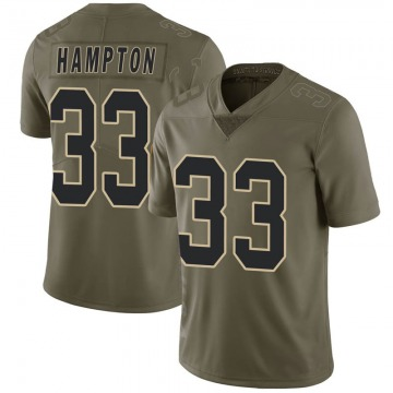 Youth Nike New Orleans Saints Saquan Hampton Green 2017 Salute to Service Jersey - Limited