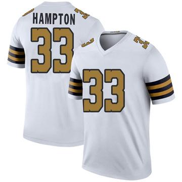 Youth Nike New Orleans Saints Saquan Hampton White Color Rush Jersey - Legend