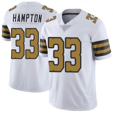 Youth Nike New Orleans Saints Saquan Hampton White Color Rush Jersey - Limited