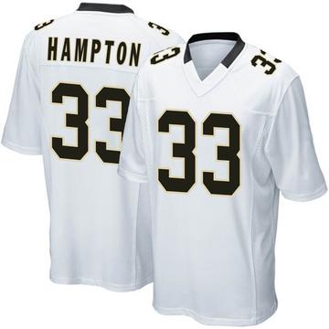 Youth Nike New Orleans Saints Saquan Hampton White Jersey - Game