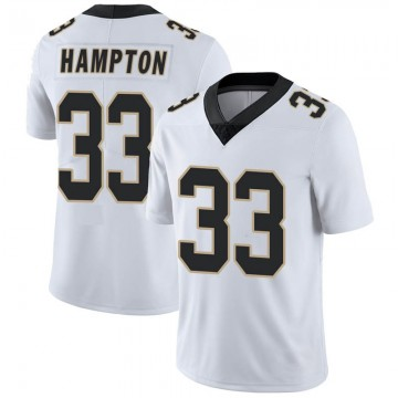 Youth Nike New Orleans Saints Saquan Hampton White Vapor Untouchable Jersey - Limited