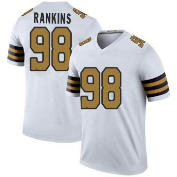 Youth Nike New Orleans Saints Sheldon Rankins White Color Rush Jersey - Legend