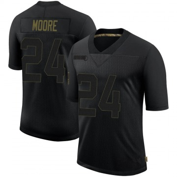 Youth Nike New Orleans Saints Sterling Moore Black 2020 Salute To Service Jersey - Limited