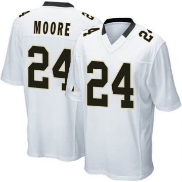 Youth Nike New Orleans Saints Sterling Moore White Jersey - Game