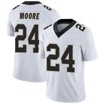 Youth Nike New Orleans Saints Sterling Moore White Vapor Untouchable Jersey - Limited