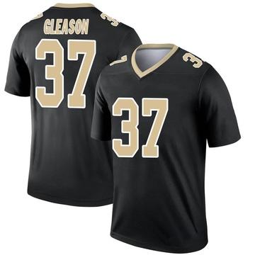Youth Nike New Orleans Saints Steve Gleason Black Jersey - Legend