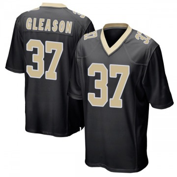 Youth Nike New Orleans Saints Steve Gleason Black Team Color Jersey - Game