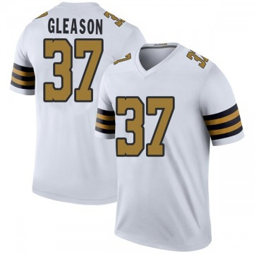 Youth Nike New Orleans Saints Steve Gleason White Color Rush Jersey - Legend