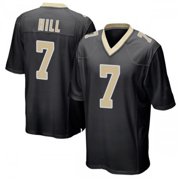 Youth Nike New Orleans Saints Taysom Hill Black Team Color Jersey - Game