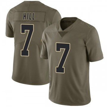 Youth Nike New Orleans Saints Taysom Hill Green 2017 Salute to Service Jersey - Limited
