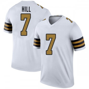 Youth Nike New Orleans Saints Taysom Hill White Color Rush Jersey - Legend