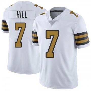 Youth Nike New Orleans Saints Taysom Hill White Color Rush Jersey - Limited