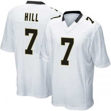 Youth Nike New Orleans Saints Taysom Hill White Jersey - Game