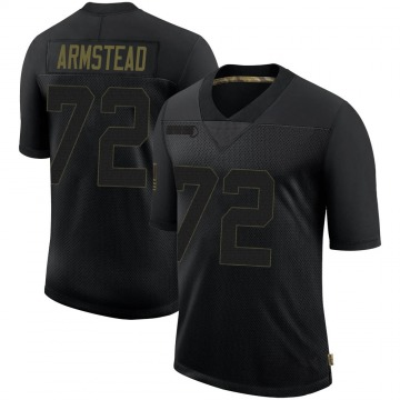 Youth Nike New Orleans Saints Terron Armstead Black 2020 Salute To Service Jersey - Limited