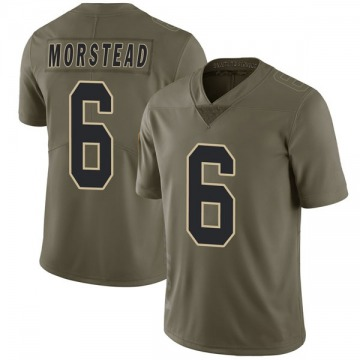 Youth Nike New Orleans Saints Thomas Morstead Green 2017 Salute to Service Jersey - Limited