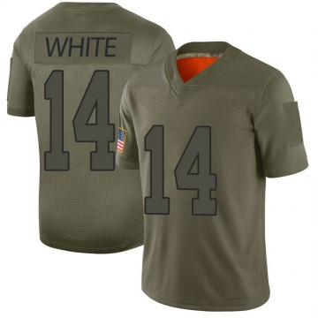 Youth Nike New Orleans Saints Tim White White Camo 2019 Salute to Service Jersey - Limited