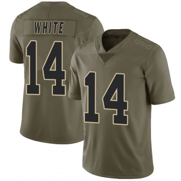 Youth Nike New Orleans Saints Tim White White Green 2017 Salute to Service Jersey - Limited