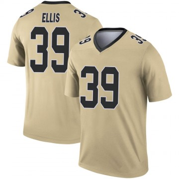 Youth Nike New Orleans Saints Tino Ellis Gold Inverted Jersey - Legend