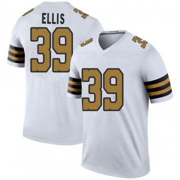 Youth Nike New Orleans Saints Tino Ellis White Color Rush Jersey - Legend