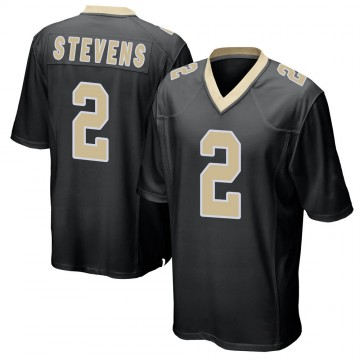 Youth Nike New Orleans Saints Tommy Stevens Black Team Color Jersey - Game