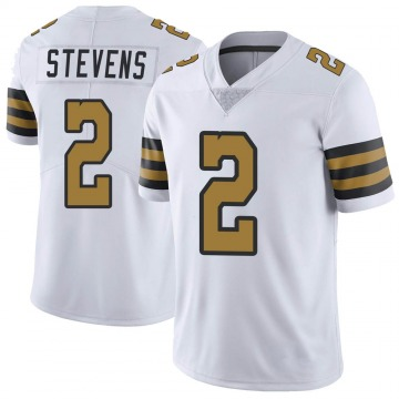 Youth Nike New Orleans Saints Tommy Stevens White Color Rush Jersey - Limited