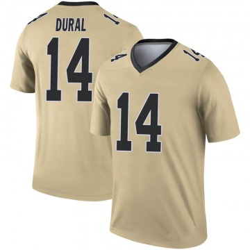 Youth Nike New Orleans Saints Travin Dural Gold Inverted Jersey - Legend