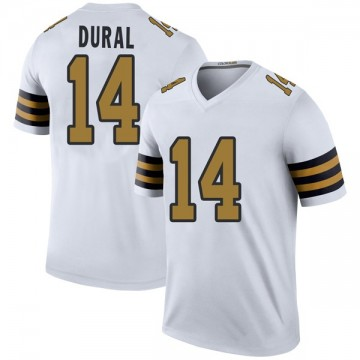 Youth Nike New Orleans Saints Travin Dural White Color Rush Jersey - Legend