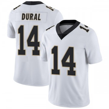 Youth Nike New Orleans Saints Travin Dural White Vapor Untouchable Jersey - Limited