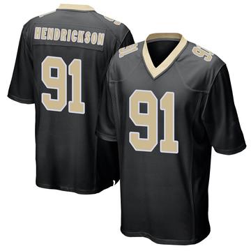 Youth Nike New Orleans Saints Trey Hendrickson Black Team Color Jersey - Game