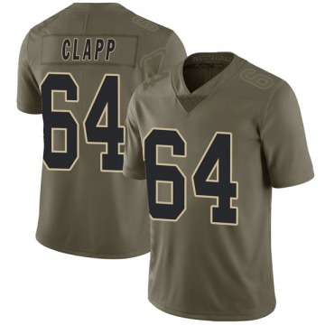 Youth Nike New Orleans Saints Will Clapp Green 2017 Salute to Service Jersey - Limited