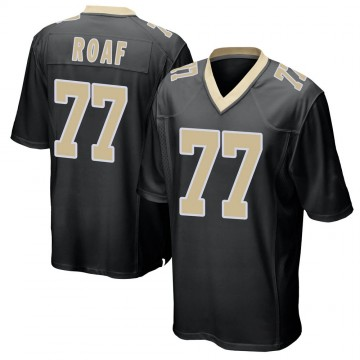 Youth Nike New Orleans Saints Willie Roaf Black Team Color Jersey - Game