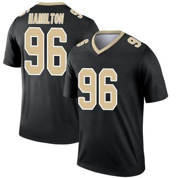 Youth Nike New Orleans Saints Woodrow Hamilton Black Jersey - Legend