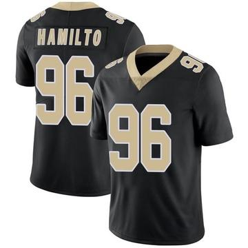 Youth Nike New Orleans Saints Woodrow Hamilton Black Team Color Vapor Untouchable Jersey - Limited