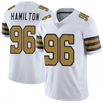 Youth New Orleans Saints Woodrow Hamilton White Color Rush Jersey - Limited