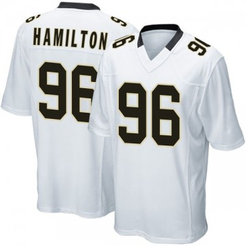 Youth Nike New Orleans Saints Woodrow Hamilton White Jersey - Game