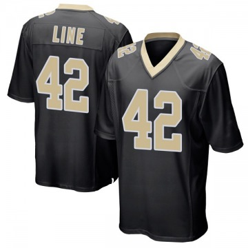Youth Nike New Orleans Saints Zach Line Black Team Color Jersey - Game