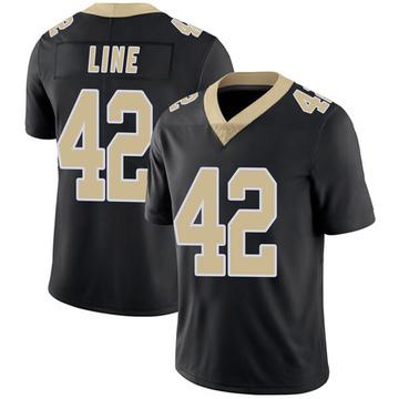 Youth Nike New Orleans Saints Zach Line Black Team Color Vapor Untouchable Jersey - Limited