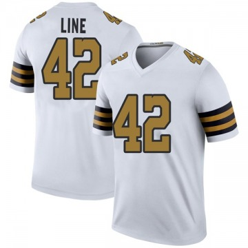 Youth New Orleans Saints Zach Line White Color Rush Jersey - Legend