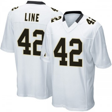 Youth Nike New Orleans Saints Zach Line White Jersey - Game